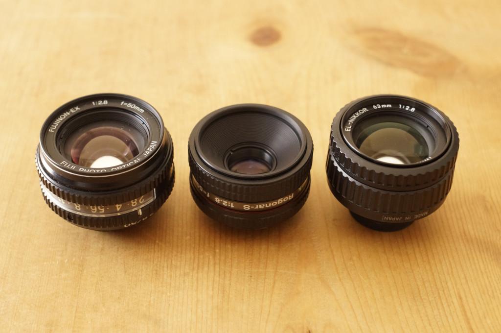 Fujinon EX 50mm F2.8 / Rodenstock Rogonar-S 50mm F2.8 / EL Nikkor 63mm F2.8
