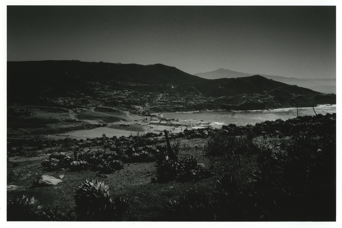 """ from a hill ""  Ensenada Mexico /   Darkroom print / film: Fuji ACROS100, paper: Ilford MG4RC8x10 / camera: Leica M4P + MINOLTA G-Rokkor 28mm F3.5(L)"