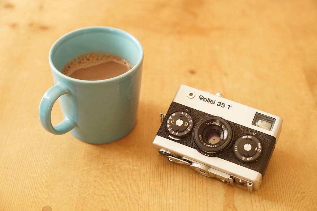 Rollei 35T with café au lait